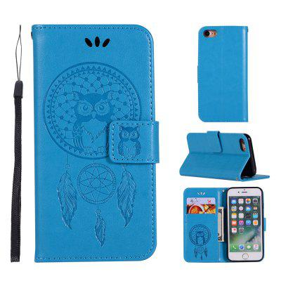 Owl Campanula Fashion Wallet Cover For iPhone 7 Phone Bag With Stand PU Extravagant Retro Flip Leather Case white doormoon for iphone 5c wallet genuine leather cover with stand