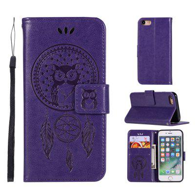 Owl Campanula Fashion Wallet Cover For iPhone 7 Phone Bag With Stand PU Extravagant Retro Flip Leather Case 9 card slots magnet wallet leather stand phone cover for iphone 7 4 7 inch feather and birds