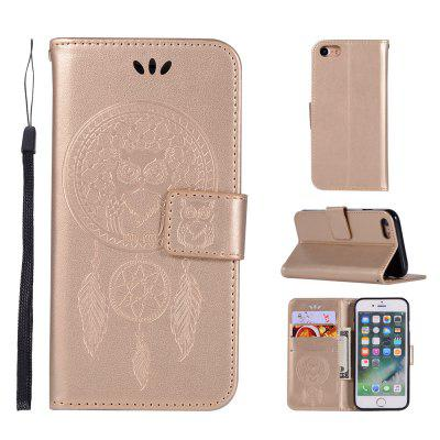Owl Campanula Fashion Wallet Cover For iPhone 7 Phone Bag With Stand PU Extravagant Retro Flip Leather Case