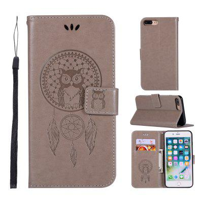 Owl Campanula Fashion Wallet Cover For iPhone 8 Plus Phone Bag With Stand PU Extravagant Retro Flip Leather Case icarer wallet genuine leather phone stand cover for iphone 6s plus 6 plus marsh camouflage