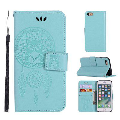 Owl Campanula Fashion Wallet Cover For iPhone 8 Phone Bag With Stand PU Extravagant Retro Flip Leather Case