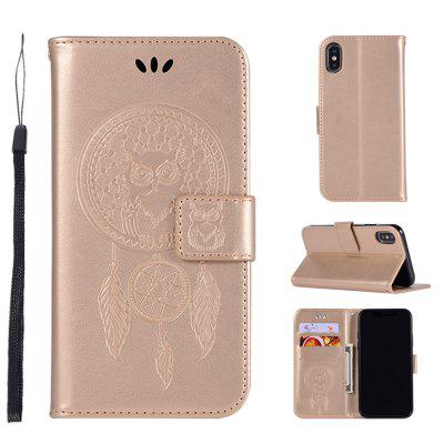 Owl Campanula Fashion Wallet Cover For iPhone X Phone Bag With Stand PU Extravagant Retro Flip Leather Case