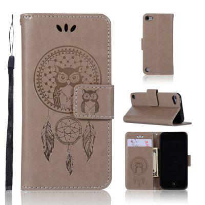 Owl Campanula Fashion Wallet Cover For iPod Touch 5/6 Phone Bag With Stand PU Extravagant Flip Leather Case wuw for iphone 7 plus 5 5 view window flip leather phone case cover with stand black