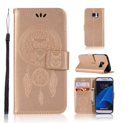Owl Campanula Fashion Wallet Cover For Samsung Galaxy S7 / G9300 Phone Bag With Stand PU Extravagant Flip Leather Case