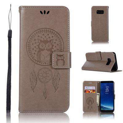 Owl Campanula Fashion Wallet Cover For Samsung Galaxy S8 Plus Phone Bag With Stand PU Extravagant Flip Leather Case