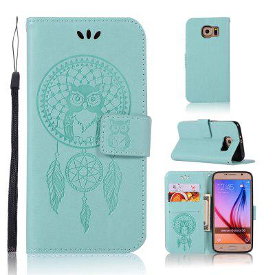 Owl Campanula Fashion Wallet Cover For Samsung Galaxy S6 Phone Bag With Stand PU Extravagant Flip Leather Case