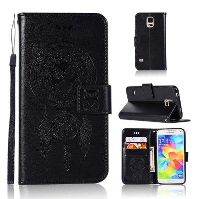Owl Campanula Fashion Wallet Cover For Samsung Galaxy S5 Phone Bag With Stand PU Extravagant Flip Leather Case