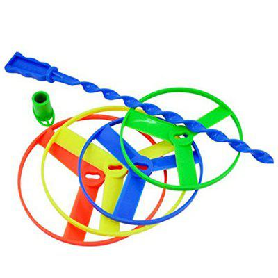 4 Pcs Twisty Flying Saucers Helicopter Toy