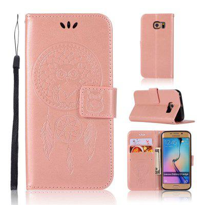 Owl Campanula Fashion Wallet Cover For Samsung Galaxy S7 Edge Phone Bag With Stand PU Extravagant Flip Leather Case