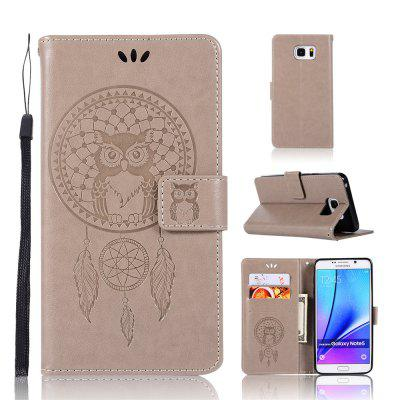 Owl Campanula Fashion Wallet Cover For Samsung Galaxy Note 5 Phone Bag With Stand PU Extravagant Flip Leather Case