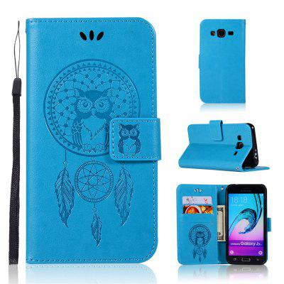 Owl Campanula Fashion Wallet Cover para Samsung Galaxy J3 2016 J310 Phone Bag With Stand PU Extravagante Flip Funda de cuero