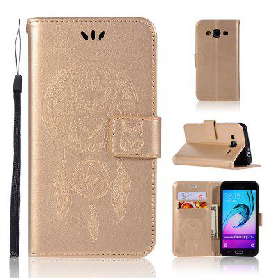 Owl Campanula Fashion Wallet Cover For Samsung Galaxy J3 2016 J310 Phone Bag With Stand PU Extravagant Flip Leather Case
