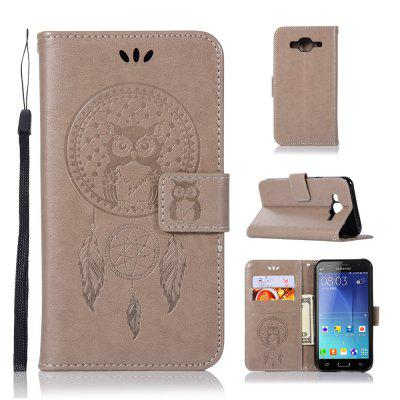 Owl Campanula Fashion Wallet Cover para Samsung Galaxy J7 2015 J700 Phone Bag With Stand PU Extravagante Flip Funda de cuero