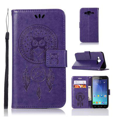 Owl Campanula Fashion Wallet Cover For Samsung Galaxy J7 2015 J700 Phone Bag With Stand PU Extravagant Flip Leather Case