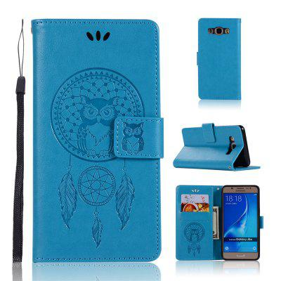 Owl Campanula Fashion Wallet Cover para Samsung Galaxy J5 2016 J510 Phone Bag With Stand PU Extravagante Flip Funda de cuero