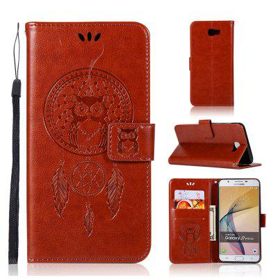 Owl Campanula Fashion Wallet Cover For Samsung Galaxy J7 Prime Case On 7 2016 Phone Bag With Stand PU Flip Leather Case