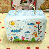 Change Box Vintage Colored Multi Functional Iron Candy Storage Box - BLUE