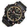 SMAEL 1545 Multi-Function Waterproof Outdoor Sport LED Watch - BLACK AND GOLDEN