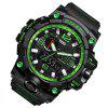 SMAEL 1545 Multi-Function Waterproof Outdoor Sport LED Watch - BLACK AND GREEN