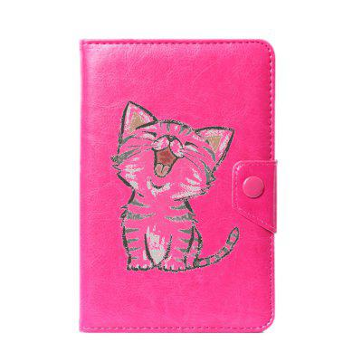Universal Cartoon Cat Case for 6 / 7 / 8 / 9 / 10 inch case cover for goclever quantum 1010 lite 10 1 inch universal pu leather for new ipad 9 7 2017 cases center film pen kf492a