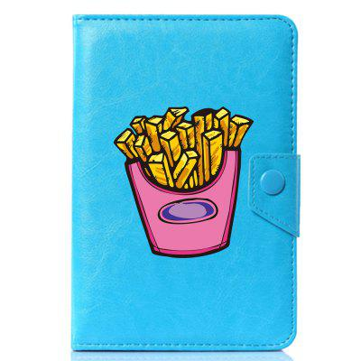 Universal Cartoon French Fries PU Leather Stand Cover Case for 7.85 7.9 8 Inch Tablet PC universal 10 inch tablet pu leather case cover for gigaset qv1030 technisat technipad 10g android cases center film pen kf492a