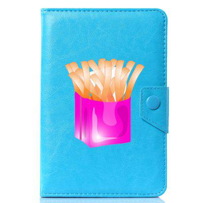 Universal Cartoon French Fries PU Leather Stand Cover Case for 9.7 / 10 / 10.1 Inch Tablet PC case for lenovo thinkpad 10 keyboard bluetooth with pu cover protective protector leather tablet pc thinkpad10 case 10 1 inch