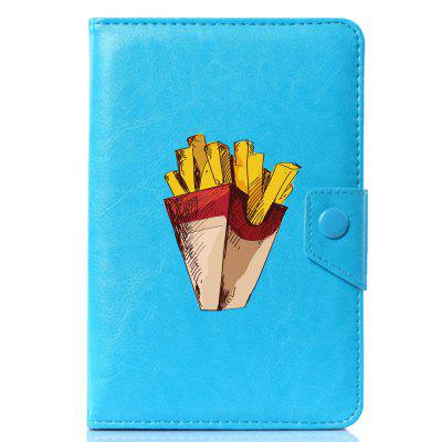 Universal Cartoon French Fries Perfect PU Leather Stand Cover Case for 9.7 / 10 / 10.1 inch pu leather case cover for ipad air2 for dexp ursus 10mv 10 1 inch universal 10 inch tablet android cases center film pen kf492a