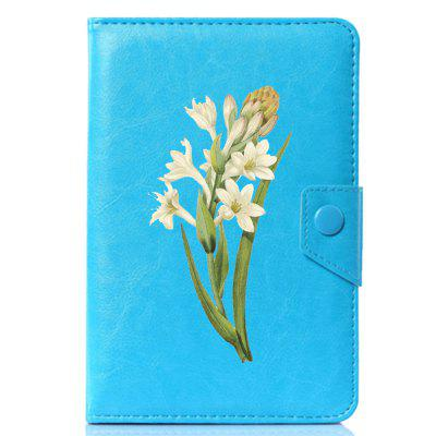 Фото Universal Cool Beautiful Flower PU Leather Stand Cover Case for 6.85 / 7 inch new 7 inch