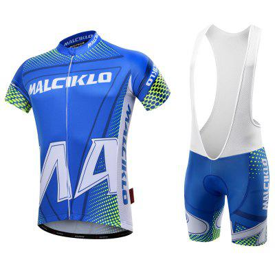 Malciklo  New Products Summer Men Cycling Jersey Bib Tights Short Rompers Bike Compression Suits Quick Dry