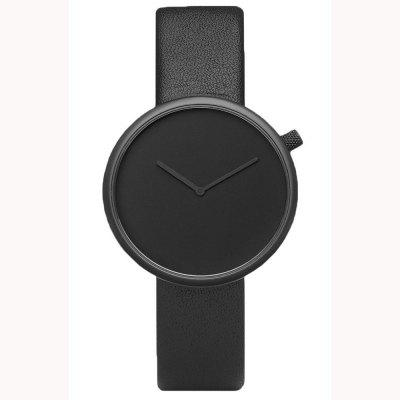 Minimalist Style Neutral Watch Fashion Casual Leather Quartz Waterproof Analog Sport Clock