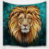 Green Lion King 3D Digital Printing Home Wall Hanging Nature Art Fabric Tapestry for Bedroom Living Room Decorations - MULTI