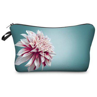 3D Pink Flower Printing Cosmetic Bag Fashion Makeup Bag Women Pouch Coin Purse Storage Bag