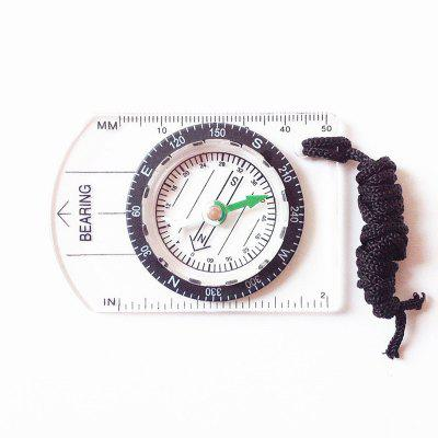 Mini Baseplate Compass Map Scale Ruler Outdoor Camping Hiking Cycling Accessory