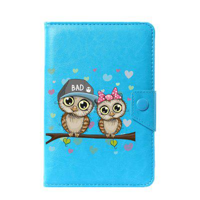 Universal Cartoon Owl Case for 6 / 7 / 7.9 / 8 / 9 / 10 / 10.1 inch case cover for goclever quantum 1010 lite 10 1 inch universal pu leather for new ipad 9 7 2017 cases center film pen kf492a