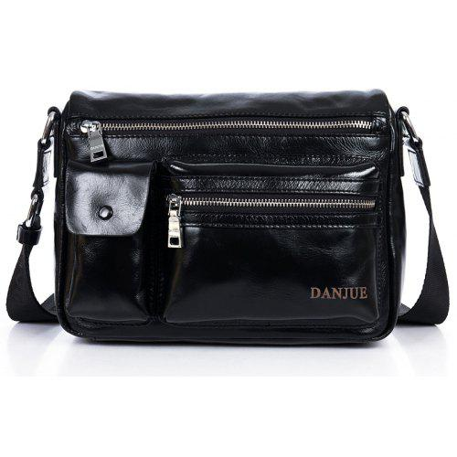 DANJUE Men Bag Genuine Leather Business Bag Fashion Travel Shoulder Bag  Brand Oil Wax Cowskin Messenger dba354f7e7abe