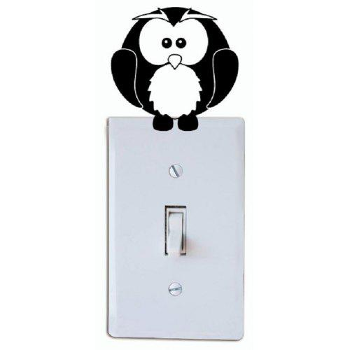 Carsge Luminous Switch Stickers Cute Light Switch Decor Decals Silicone Wall Stickers Wall Stickers