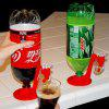 DIHE Coke Bottle Obsequent Water Soda Drink Outlet Pipe Originality - RED