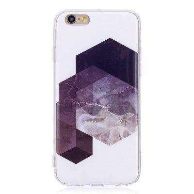 TPU Soft Case for iPhone 6 Plus / 6s Plus Geometric Marble Style Back Cover vouni galaxy series glittery powder soft tpu cover for iphone 6s plus 6 plus 5 5 inch blue