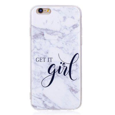 TPU Soft Case for iPhone 6 Plus / 6s Plus Girl Marble Style Back Cover vouni galaxy series glittery powder soft tpu cover for iphone 6s plus 6 plus 5 5 inch blue