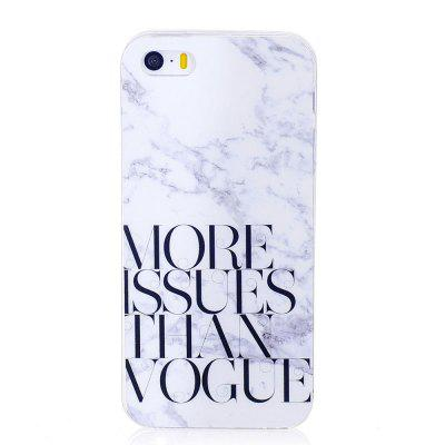 TPU Soft Case for iPhone 5 / 5S / SE Letter Marble Style Back Cover