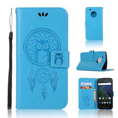 Owl Campanula Fashion Wallet Cover For Motorola Moto G5 Case Phone Bag With Stand PU Extravagant Vintage Flip Leather Case