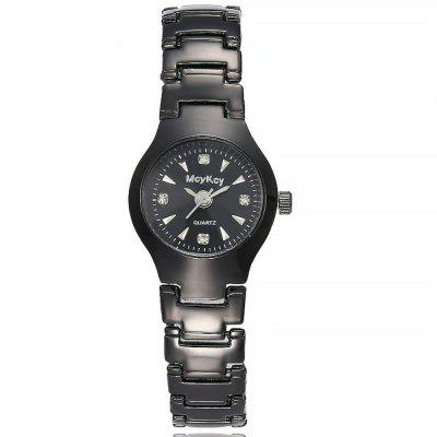 Geneva Trendy Gun Black Steel Men and Women Lovers Watch