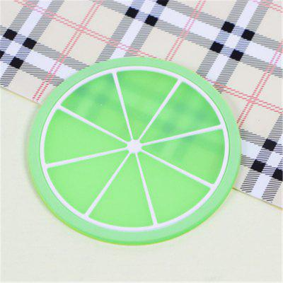 Fruit Table Mat Cute Colorful Silicone Round Watermelon Lemon Orange Coaster Cup Cushion Heat Resistant Pad коврик для мышки круглый printio травка