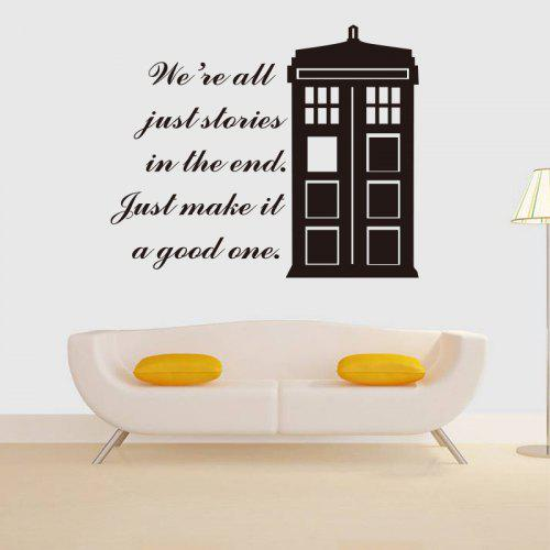 We Are All Just Stories In The End Quote Vinyl Wall Sticker House