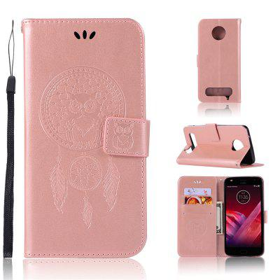 Owl Campanula Fashion Wallet Cover For Motorola Moto Z2 Play Case Phone Bag With Stand PU Extravagant Flip Leather Case