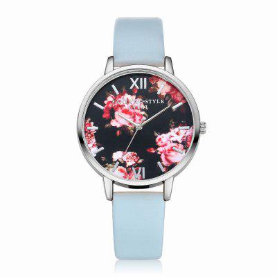 Lvpai P086-S Women Fashion Leather Band Flowers Dial Quartz Watches fashion leather watches for women analog watches elegant casual major wristwatch clock small dial mini hot sale wholesale