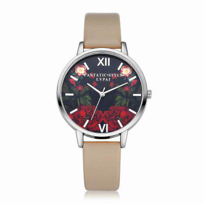 Lvpai P087-S Women Fashion Leather Band Flowers Dial Quartz Watches fashion leather watches for women analog watches elegant casual major wristwatch clock small dial mini hot sale wholesale