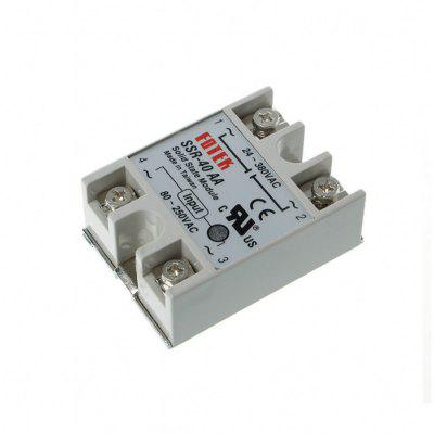 SSR-40AA 40A Single Phase Solid State Relay 80-250V AC / 24-380V AC