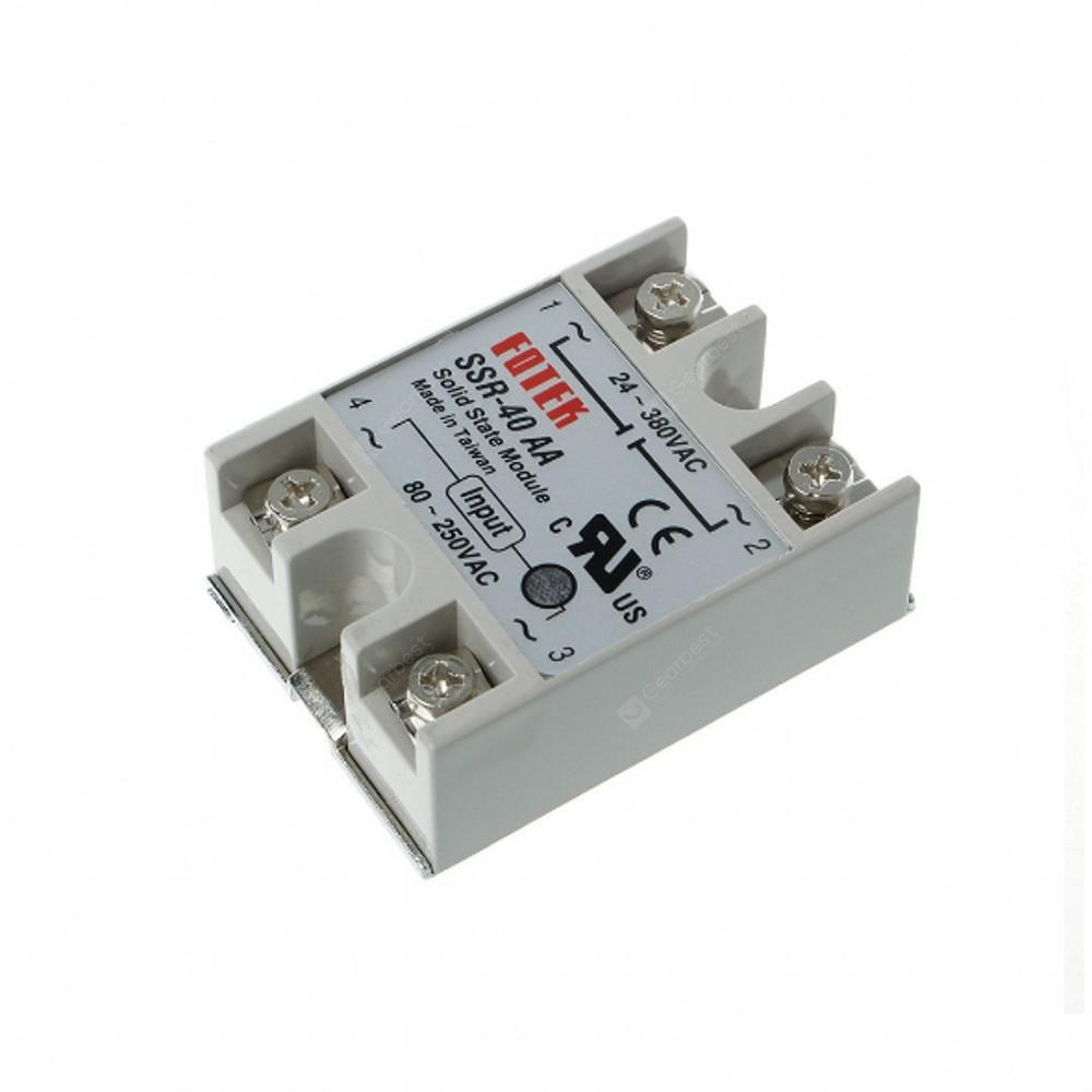 Ssr 40aa 40a Single Phase Solid State Relay 80 250v Ac 24 Electronic Canary Circuit Copyright 2014 2019 All Rights Reserved