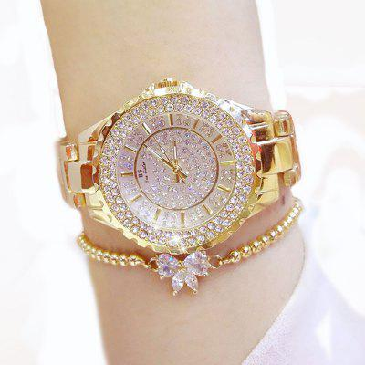 Women Watches Luxury Brand New Geneva Ladies Quartz Rhinestone Wrist Clock Female Dress sinobi elegant women wrist watches leather watchband 10bar waterproof fashion ladies geneva quartz clock female wristwatch 2016